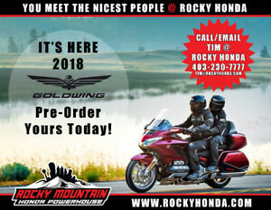 IT'S HERE! 2018 HONDA GOLDWING! TAKING PRE-ORDERS NOW! GL1800