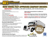 AZ Company Drivers Required