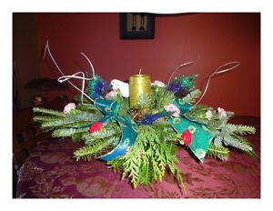 Pillar Candle Fresh Christmas Centrepieces