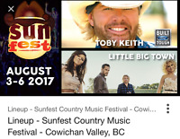 SUNFEST 2017 CAMPING AND TICKET