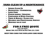 SPRING YARD CLEANING