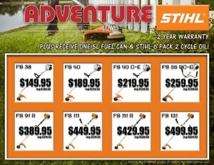 Lawn and Garden Clearance - STIHL and Cub Cadet