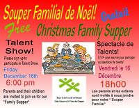 Free Christmas Family Supper & Talent Show