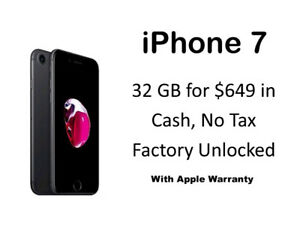 iPhone 7 and iPhone 7 Plus with Apple warranty, New Stock