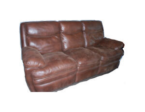 3-Seater Brown Microfiber Recliner Couch PRICE NEGOTIABLE