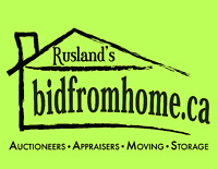 Online Auction - www.BidFromHome.ca: A Division of Rusland's