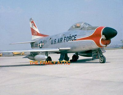 F-86D SABRE 8x11 PHOTO US AIR FORCE JET PLANE TARMAC HAHN AFB WEST GERMANY 1957, used for sale  Martinsburg