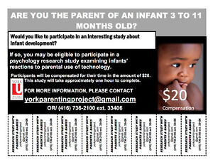 Research Participants w/ Infants Wanted!