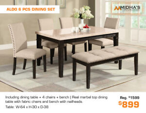 Best Deals of the Year All Dining Table Sets Now up to 50% OFF!