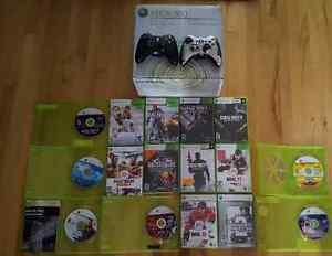 Xbox 360 17 jeux, 2 manettes et une Guitare
