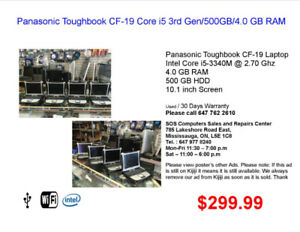Panasonic Toughbook CF-19 Core i5 3rd Gen/500GB/4.0 GB RAM