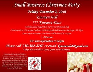 Small Business/Group Christmas Party Prince George British Columbia image 1