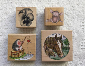 Wood mount stamps - each sold separately