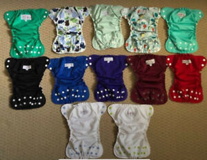 EUC Apple Cheeks cloth diapers