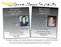 TELL STORIES THROUGH SONG and TEXT ANALYSIS MASTERCLASS