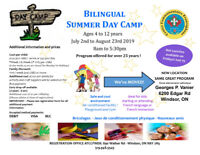 Bilingual Day Camp kids ages 4yrs to 12yrs