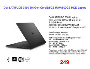 Dell Laptops for Sale.................(Prices $179 to $500)