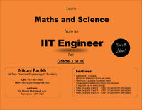BRAMPTON-Math & Science Tutor Grade 3 to 10 by IIT Engineer