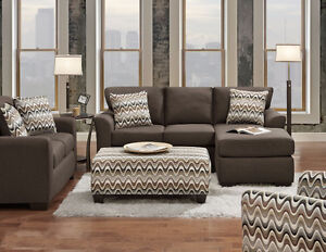 HOMETOWN- Sectional Set with Ottoman