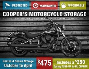 Book your Bike in for Winter Storage!  Comes with free service.