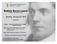 Rabbie Burns Lunch at The Good Companions