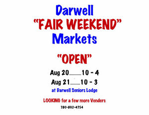 """Darwell Market....at """"Darwell Fair Weekend - venders wanted"""