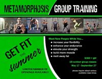 Group Training and one and one personal training
