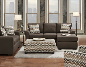 HOMETOWN - SECTIONAL SET WITH OTTOMAN