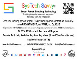 24 / 7 / 365 Technical Support (Remote, Onsite & Offsite)