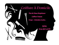 COIFFURE À DOMICILE - RIVE-NORD DE MTL - HOMME & FEMME
