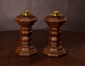 Wooden Candle holders - thick sturdy - $5 for set