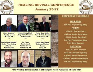 Healing Conference @ the Worship Barn