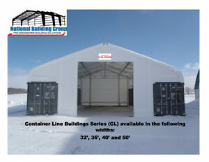 CONTAINER MOUNTED FABRIC STRUCTURE