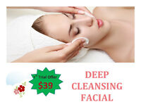 1st trial offer $39 Deep Cleansing Facial