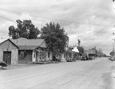 For sale Photo. ca 1945. Florin, California. Main Street