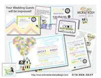 Custom Wedding Invitations by Brenda Kennedy Design