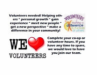 Volunteer opportunities at CCA!