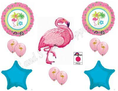 Pink Flamingo & Turquoise Luau Birthday Party Balloons Decoration Supplies Ocean - Pink Flamingo Decorations Supplies