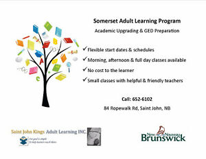 Academic Upgrading and GED Classes--Saint John