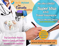 Cheap Super Visa Insurance  Monthly Pay to Canada