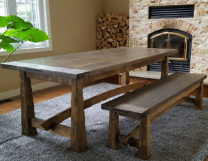 Dining Table and Bench Set for 8