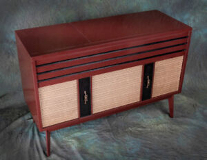 Console Stereo, Early '60s,, Rebuilt for Bluetooth and Vinyl