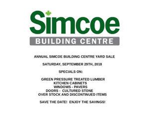 SIMCOE BUILDING CENTRE BRACEBRIDGE ANNUAL GARAGE SALE
