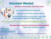 Volunteer Wanted:  Help and truly connect with an autistic child