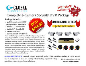 Complete 4-Camera Security DVR Package