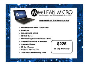 REFURBISHED HP PAVILION dv6 LAPTOP