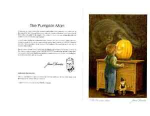 The Pumpkin Man Six Art Cards BL (WITH ENVELOPE)  By James Lumbe