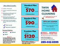 Twin Home Cleaning (Residential Cleaning Service)