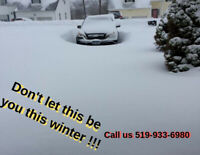 Need your driveway plowed?