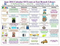 East Branch Library Programs